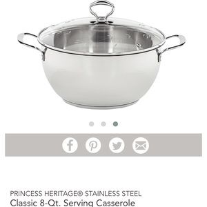 Princess House Heritage 8-Qt. Serving Casserole